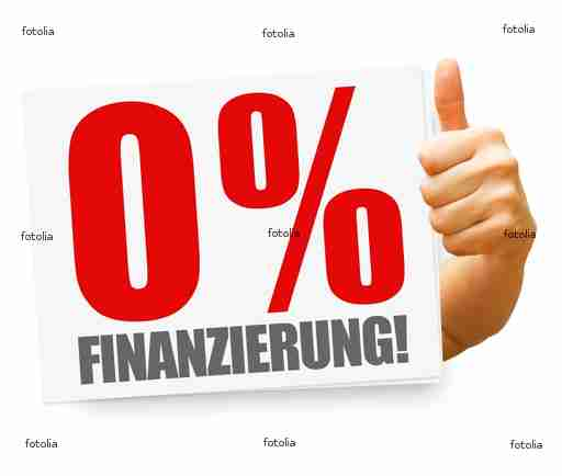0% Finanzierung! Button, Icon